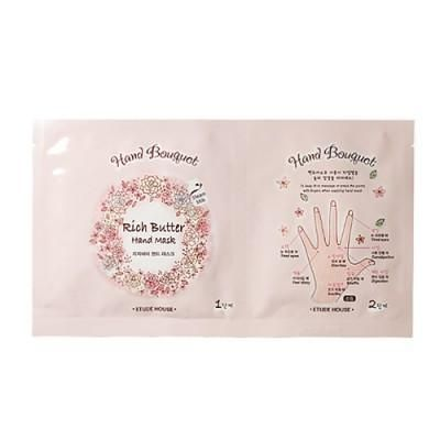 ETUDE HOUSE Hand Bouquet Rich Butter Hand Mask Essence formulated mask sheet supplies rich collagen and moisture to skin <This item is not in stock, but can