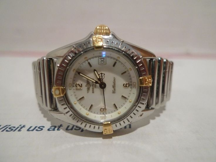 BREITLING 1884 CALLISTINO LADIES GOLD AND STAINLESS DATE WATCH #Breitling
