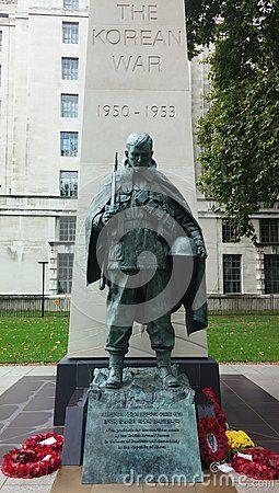 The Korean War Statue in London