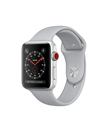 #Apple watch series 3 Aluminum case Sport 42mm GPS  Cellular GSM unlocked (Silver Aluminum Case with Fog Sport Band)