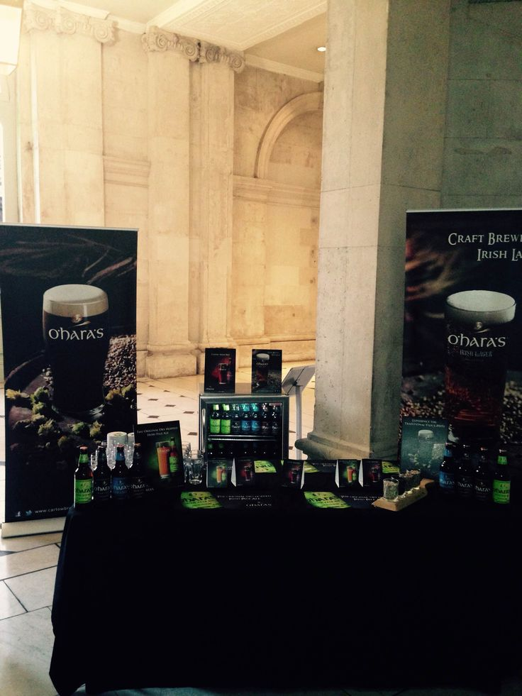 O'Haras Craft brew set up for St. patricks Festival Launch at City Hall Dublin, 2016