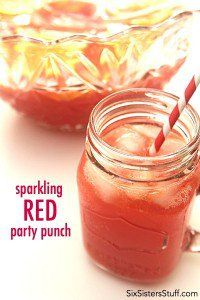 Sparkling Red Party Punch on SixSistersStuff.com