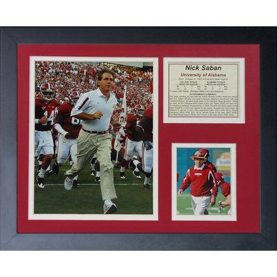 Legends Never Die Nick Saban Framed Memorabilia