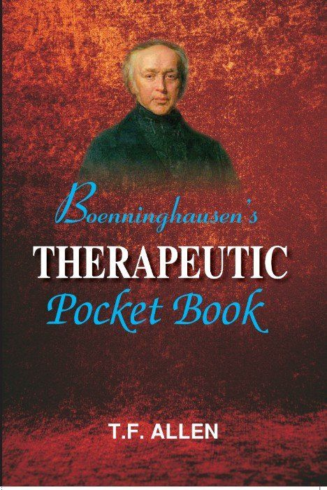 """Boenninghausens Therapeutic Pocket Book""  As there was a demand for discovering a device which can serve as an index to the ever enlarging Materia Medica, Dr Boenninghausen picked up the gauntlet. He published Therapeutic Pocket Book in 1846, wherein he incorporated information from his rich clinical experience and his earlier works 'Repertory of Anti-psoric Medicines', 'Repertory of the Medicines which are not Anti-psoric and 'Attempt at Showing the Relative Kinship of Homoeopathic…"
