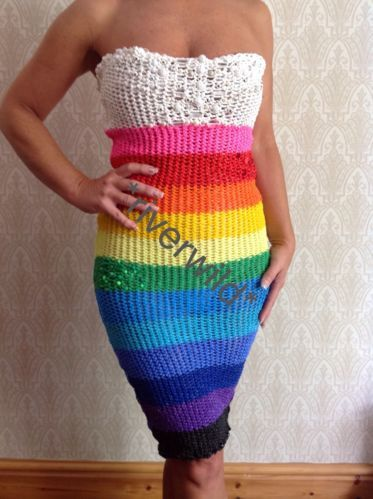 AMAZING RAINBOW LOOM BAND DRESS 100% LOOM BANDS