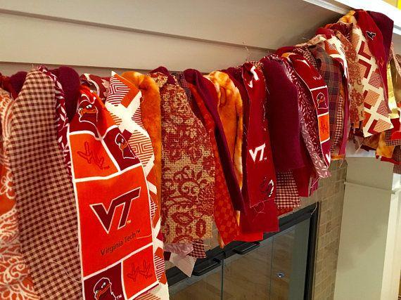 Virginia Tech Garland Vt Party Decoration Ideasfireplace Mantels High