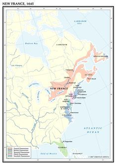 New Sweden New France New England And New Netherlands In 1645 Usa Mapstrivianew Englandamerican Historynetherlandsswedenfrances