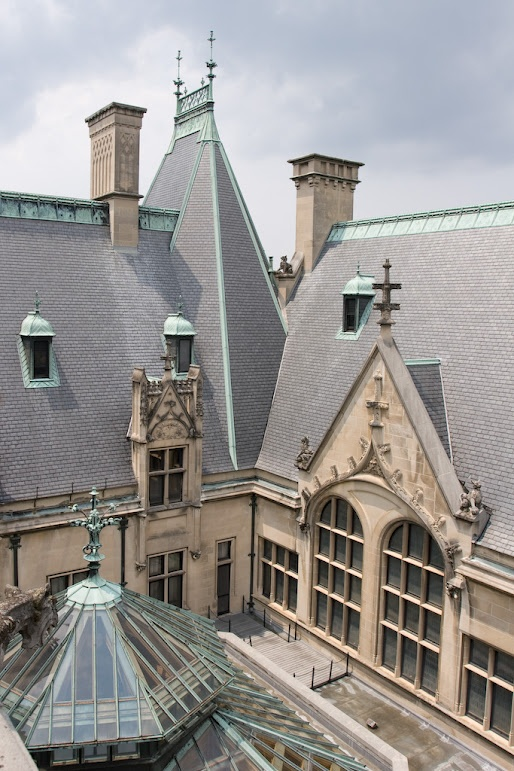 A beautiful view of the outside facade at the Biltmore Estates #Biltmore #Capel