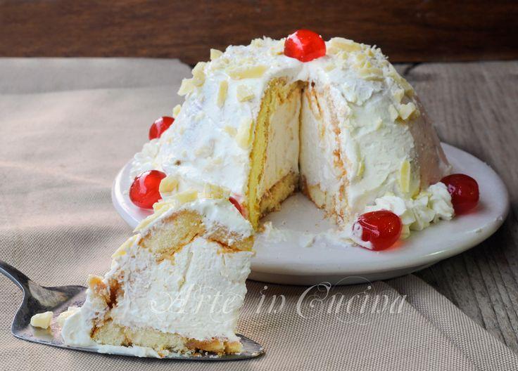 Zuccotto bianco panna mascarpone e cioccolato vickyart arte in cucina