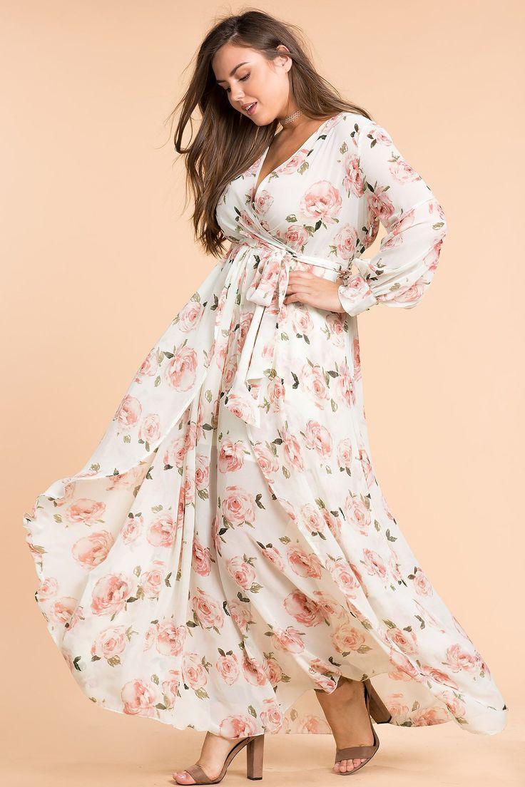 Womens Plus Size Maxi Dresses | Floral Shine Maxi Dress | AGACI big size fashion http://amzn.to/2kRZpiY