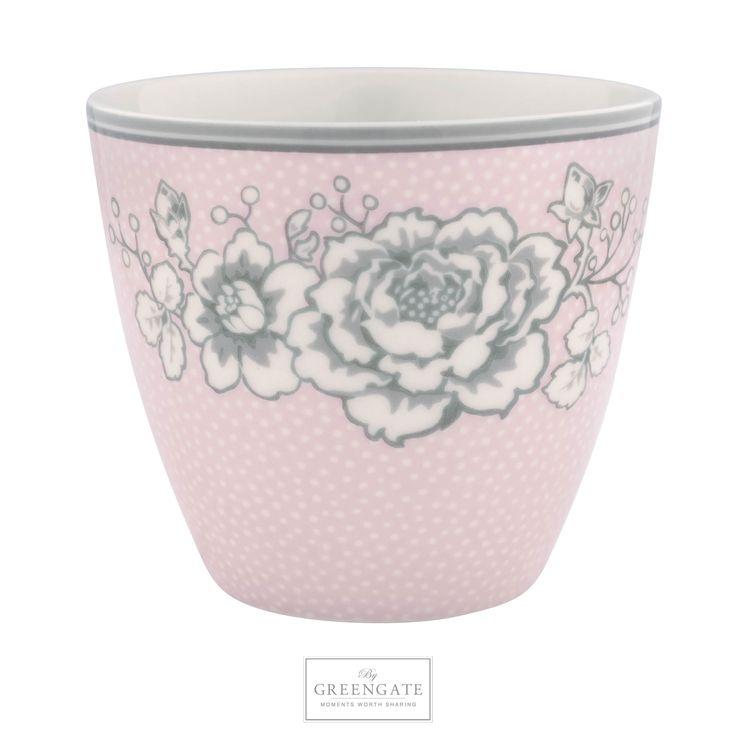 GreenGate Latte cup Ella pale pink AW17 #GreenGateOfficial