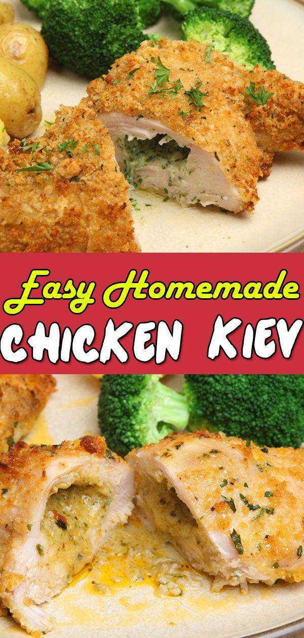 Chicken Kiev Recipe Easy Homemade Kiev Chicken Recipe Recipe Chicken Kiev Chicken Kiev Recipe Easy Chicken Recipes