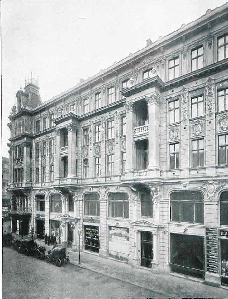 """Dom Dochodowy Warszawskich Teatrów Rządowy. Widok od ulicy Wierzbowej. Źródło zdjęć: Numery """"Przeglądu Technicznego"""" z 1906r i NAC"""