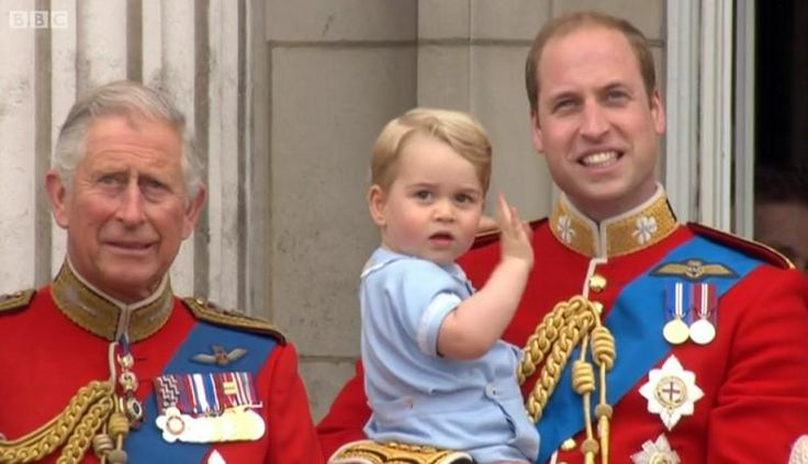 British Monarchy on Twitter: Trooping the Colour 2015, June 13, 2015-Three Royal Heirs-Prince of Wales, Duke of Cambridge and Prince George