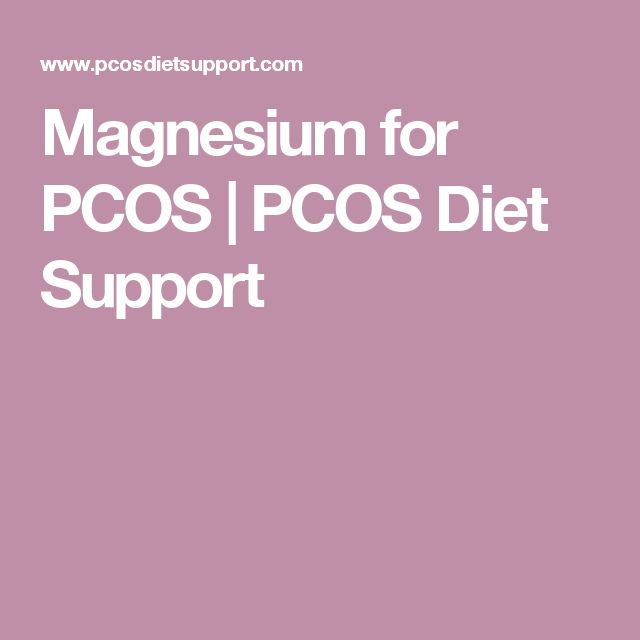 Magnesium for PCOS | PCOS Diet Support