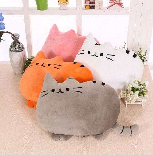 Cute Big Cat Shape Pillow Cushion Soft Plush Toy Doll Pillow Animals #Unbranded