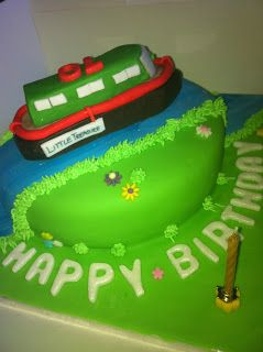 My Life in Cakes: Ernie's Narrow Boat Birthday Cake