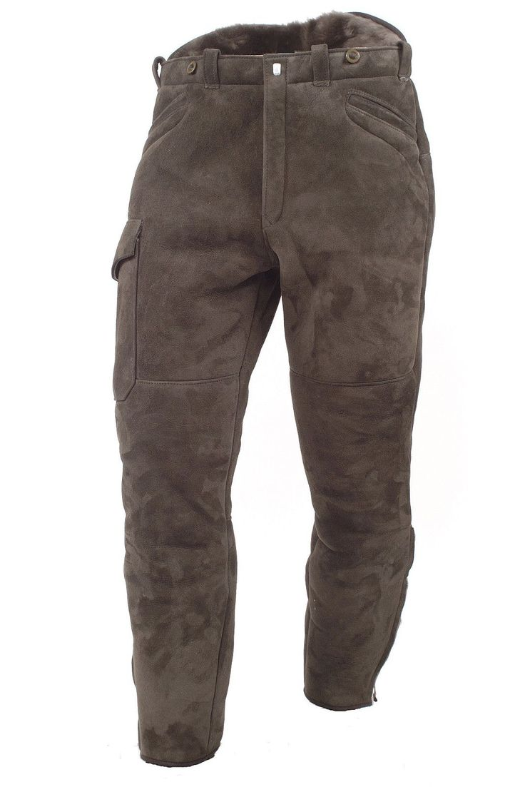 Shearling trousers - merino leather
