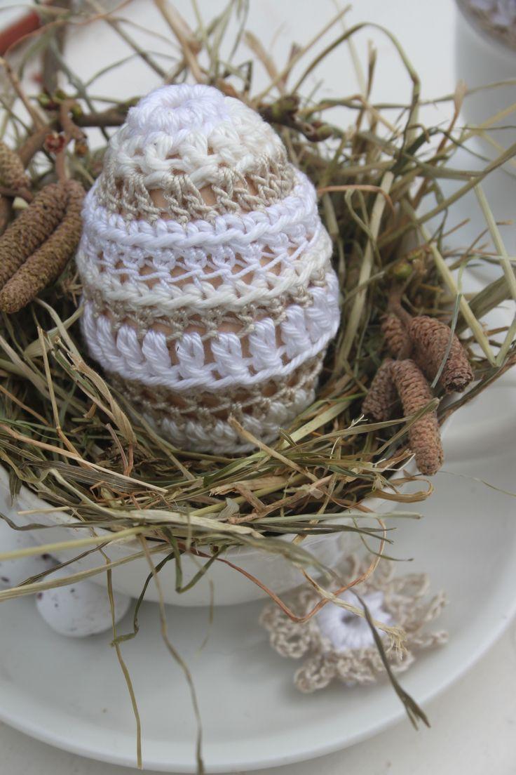 Brocante eitje - Omhaken van een ei met een brocante uitstraling