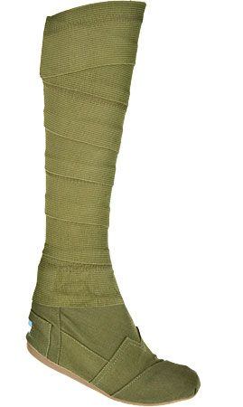 Schuhwerk I Toms Wrap Boot Boots - Olive - Women -- (fairy costume, forest pixie, elf)