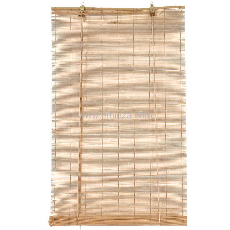 Store enrouleur à baguettes (90 x H130 cm) Bambou Naturel : choisissez parmi tous nos produits Store enrouleur bambou