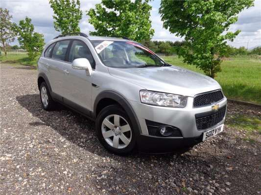 Used 2012 (12 reg) Poly Silver Chevrolet Captiva 2.2 VCDi LT 5dr Auto [7 Seats] for sale on RAC Cars