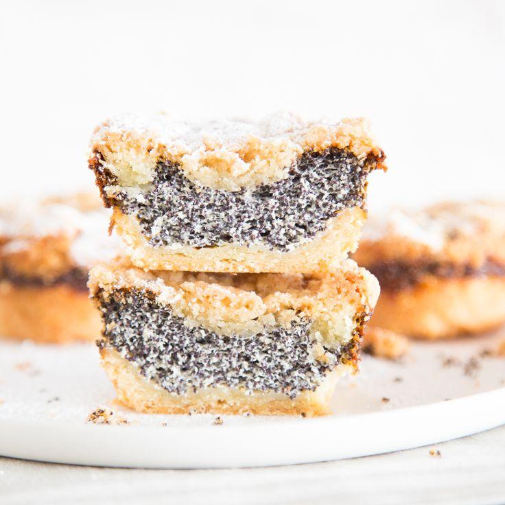 Klein und rund statt groß und eckig: Mohn-Streusel-Muffins