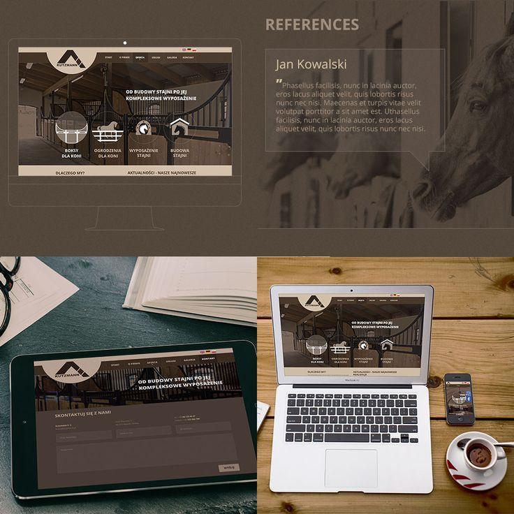 Strona dla producenta elementów wyposażenia stajni - Kutzmann. Projekt graficzny, funkcjonalny, wdrożenie oraz profesjonalny copywriting i promocja w sieci.