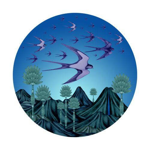#Original Bird illustrations  #Swallows Migrating #illustration #feathered Friendship Bird series #Tshirts
