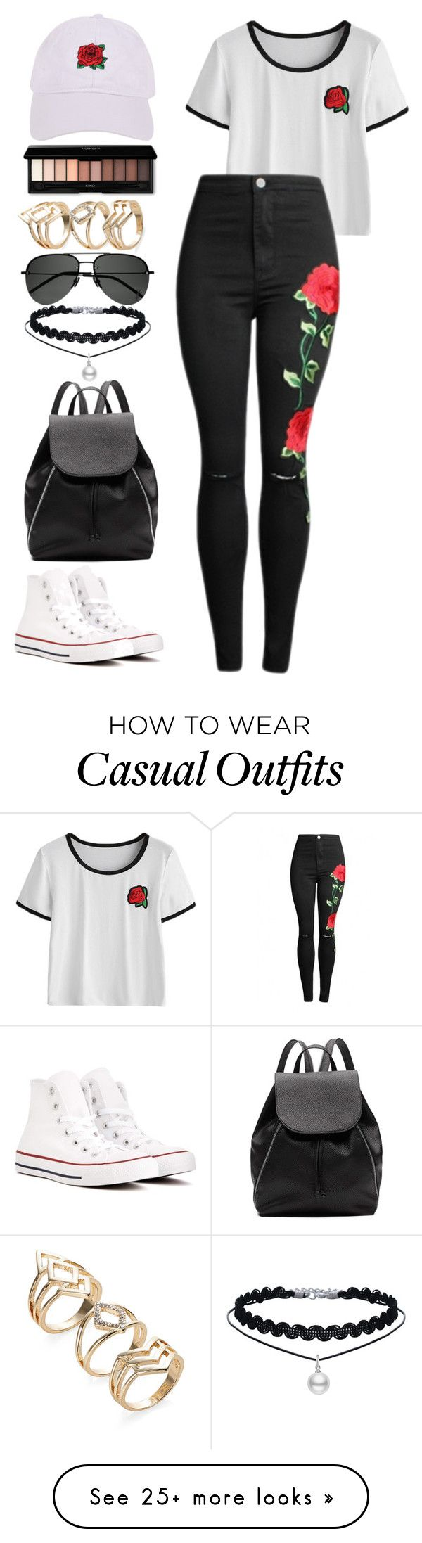 """""""Casual"""" by chap15906248 on Polyvore featuring Converse, Witchery, Armitage Avenue and Yves Saint Laurent"""
