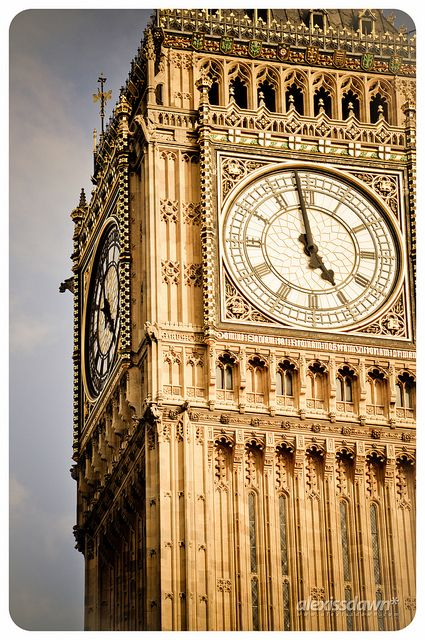 Big Ben at Westminster Palace, London, England