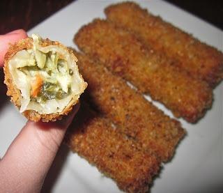 Crispy Spinach-Artichoke Dip Cheese Sticks