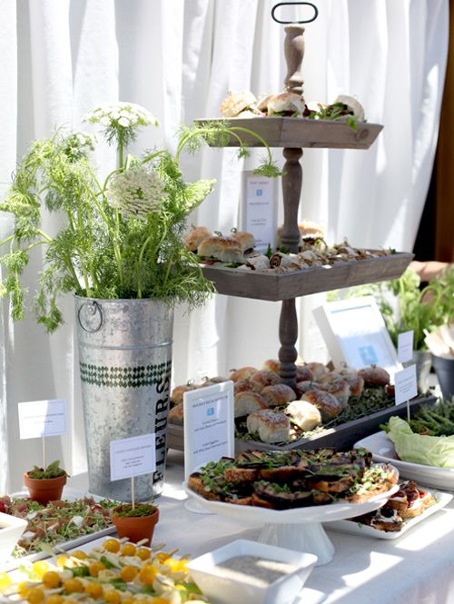 nice food display - I think I have seen this tiered stand at save-on-crafts.com