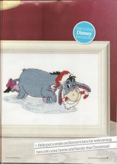 Winnie the Pooh Eeyore's Christmas The World of Cross Stitching Issue 157 Christmas 2009 Saved
