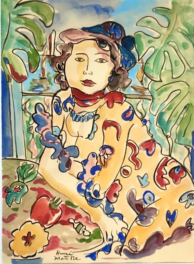 Henri Matisse Figurative Watercolor Theartsuppliers Weddings