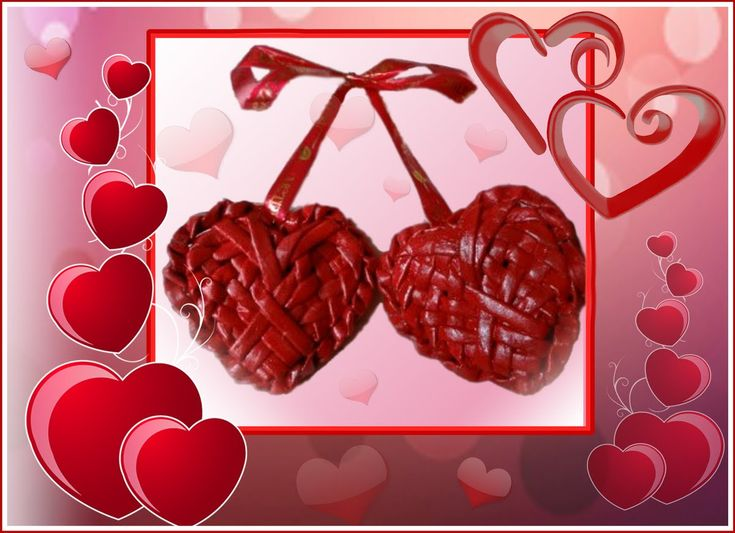 Плетение сердечек из бумажных трубочек / Weave hearts from paper tubes