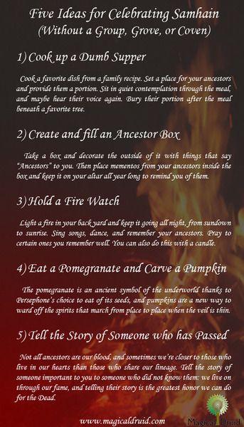Five Ideas for Celebrating Samhain