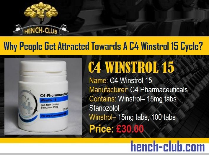 #BuyC4Winstrol15OnlineUK : Why People Get Attracted Towards A C4 Winstrol 15 Cycle?