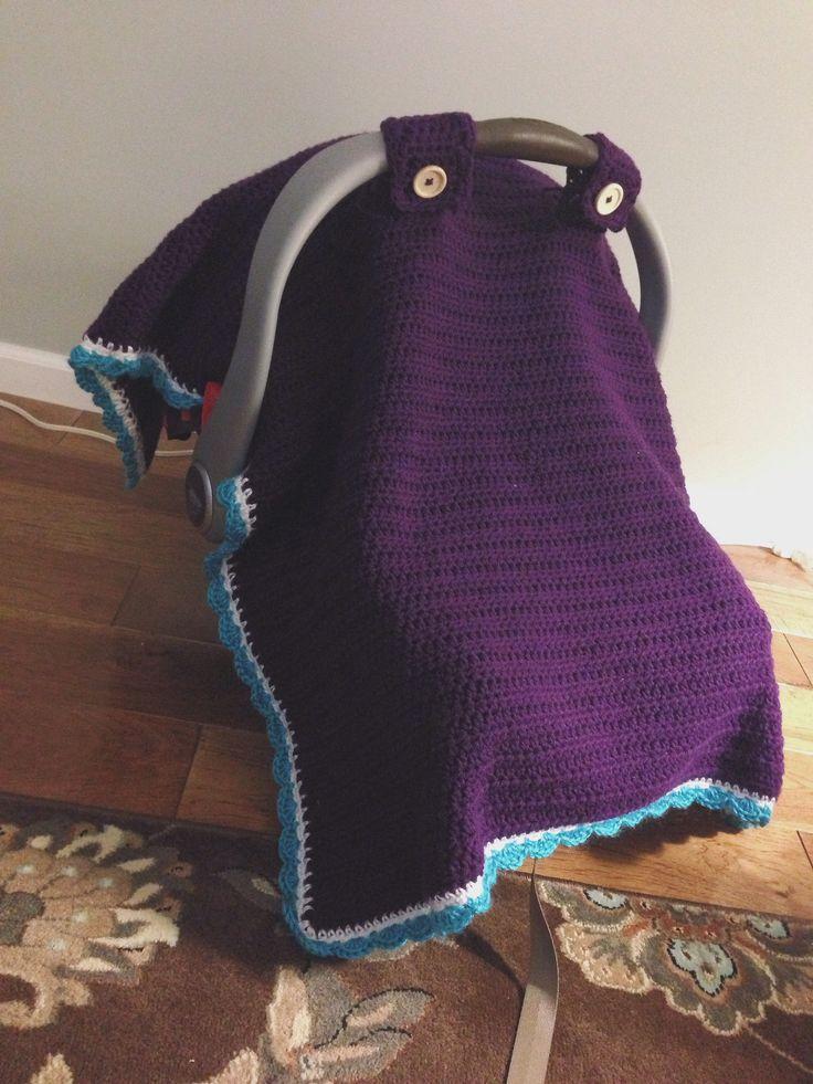 Crochet car seat canopy