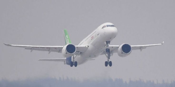 The Comac C919 is China's first step to competing with Boeing and Airbus in the commercial aviation sector.