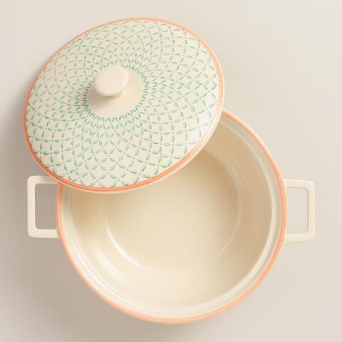 Stamped Ceramic Baker | World Market