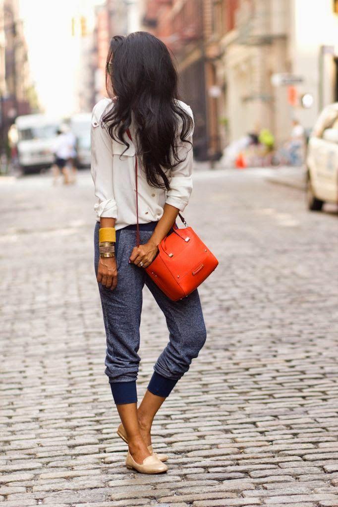 Tendência calça jogging moletom
