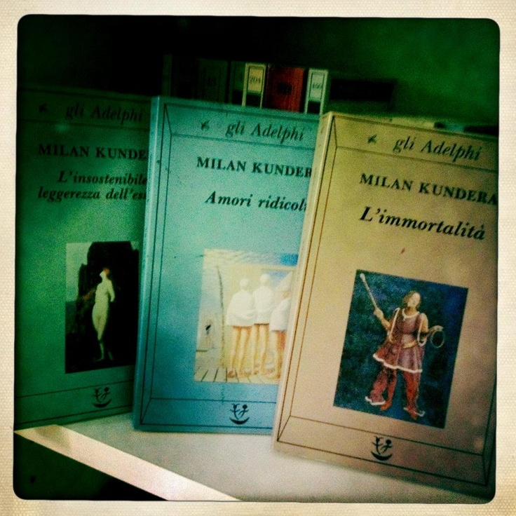 Kundera. The period in EAST Europe. I love those books. I learnt the difference inbetween love and possesion, missing and abundance, to be and to want to be..He was my teacher.