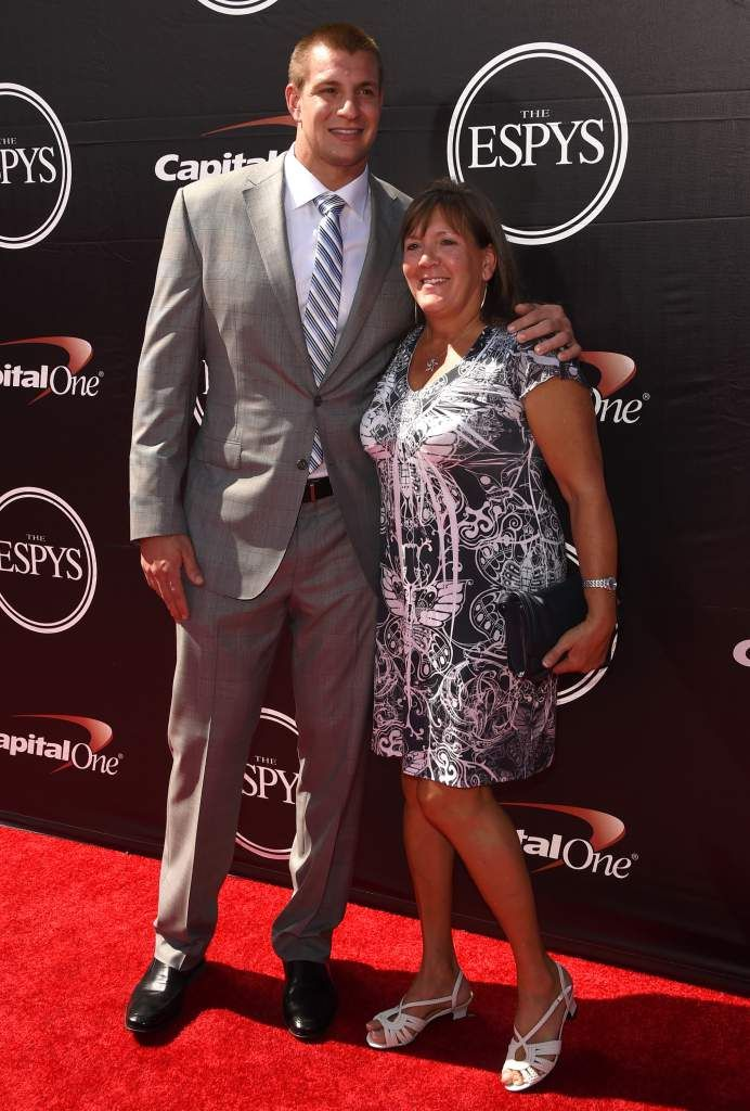 LOS ANGELES, CA - JULY 15:  (L-R) NFL player Rob Gronkowski with mother Diane Gronkowski attends The 2015 ESPYS at Microsoft Theater on July 15, 2015 in Los Angeles, California.  (Photo by Jason Merritt/Getty Images)