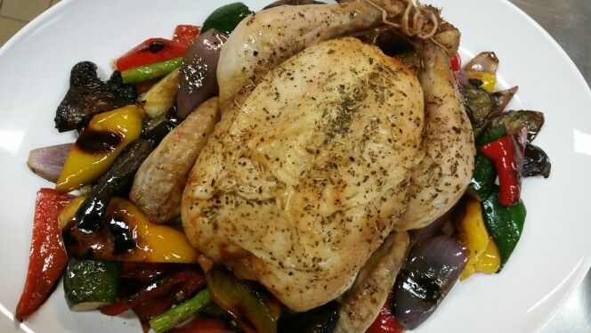 Herb Roast Chicken and Grilled Vegetables