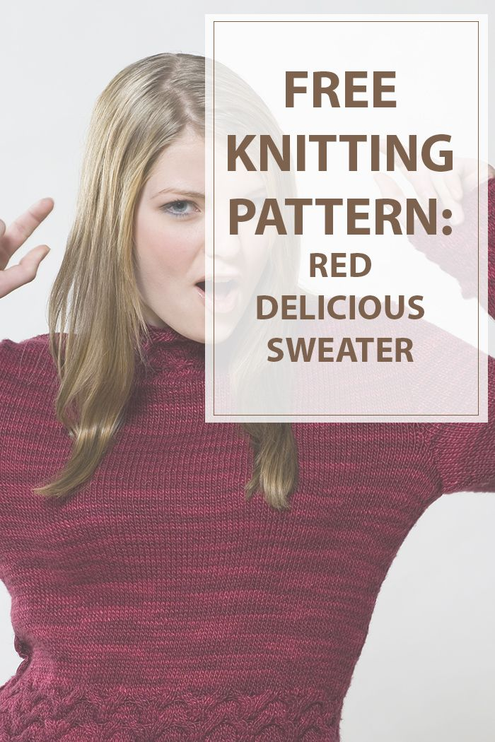 Red delicious sweater knitting pattern is great pattern to make cute red sweater.With a neckband to cover your neck this knitting pattern will keep you warm #knitting #pattern #sweater #knitted | www.housewiveshobbies.com |