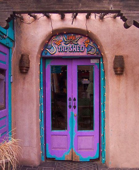 Santa Fe, New Mexico...love how colors are allowed in New Mexico!!! Brings life out!!!