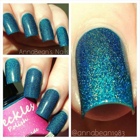 Blue Lagoon (Happy Hour Holos Collection) Linear Holographic 10ml Cruetly Free Handmade Nail Polish on Etsy, £6.50