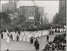 Suffrage Parade, New York City, ca. 1912 - From the US National Archives - Quick overview of the 19th Amendment