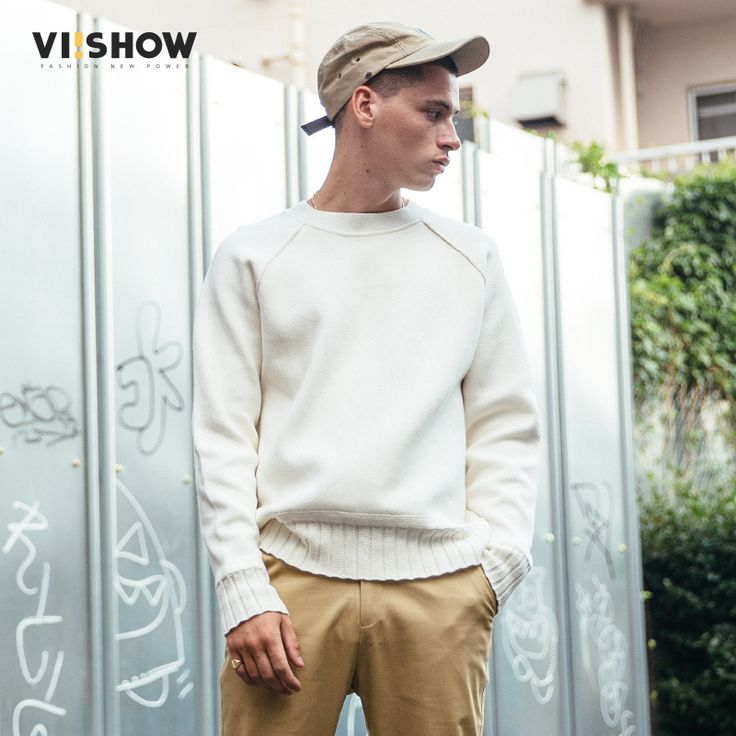 VIISHOW Sweater Men Pullover Brand Clothing Quality Men White Sweater Autumn Spring Dress Pull Homme Christmas Sweater ZC1753173 #Affiliate